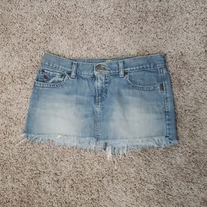 Abercrombie & Fitch distressed  jean skirt sz 4